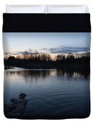 Cool Blue Ripples - Lake Shore Eventide Duvet Cover