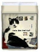 Cool Cat Greeting Card Duvet Cover