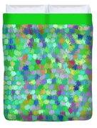 Cool Green Splash Art Duvet Cover