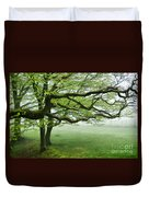 Cool Misty Day At Blackbury Camp Duvet Cover