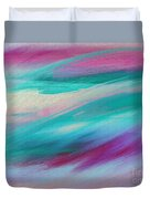 Cool Waves - Abstract - Digital Painting Duvet Cover