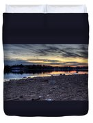 Cool Winter Sunset Duvet Cover