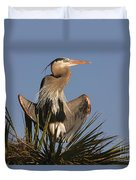 Great Blue Heron Air Conditioning Duvet Cover