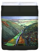Coombe Valley Gate, Exmoor, 2009 Acrylic On Canvas Duvet Cover
