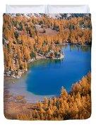 Cooney Lake Larches Duvet Cover