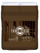 Coors Field - Colorado Rockies 15 Duvet Cover by Frank Romeo