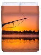 Coos Bay Sunrise II Duvet Cover