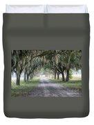 Coosaw Fog Avenue Of Oaks Duvet Cover