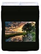 Coosaw Plantation Sunset Duvet Cover