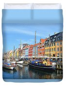 Copenhagen Denmark Nyhavn District Duvet Cover