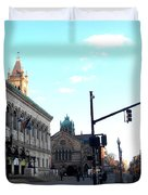 Copley Square - Old South Church Duvet Cover