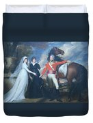 Copley's Colonel William Fitch And His Sisters Sarah And Ann Fitch Duvet Cover