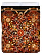 Copper And Gold Celtic Cross Duvet Cover