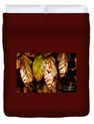 Copper Beech Leaves Duvet Cover