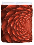 Copper Spiral Vortex Duvet Cover