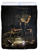 Copper Teapot Duvet Cover by Debra and Dave Vanderlaan