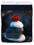 Coral Dandy Duvet Cover
