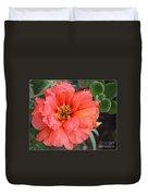 Coral Desert Rose Duvet Cover