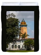 Coral Gables House And Water Tower Duvet Cover