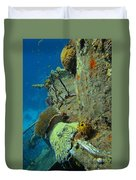 Coral Growth On A Ship Wreck Duvet Cover