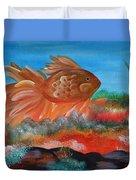 Coral Land Goldfish Duvet Cover