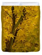 Coral Maple Fall Color Duvet Cover