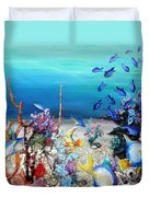 Coral Reef Blues  Duvet Cover