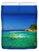 Coral Seas Haiti Duvet Cover