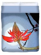Coral Tree Duvet Cover