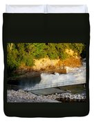 Coralville Dam At Capacity Duvet Cover