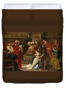 Cordelia In The Court Of King Lear, 1873 Duvet Cover