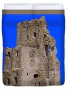 Corfe Castle Ruins Duvet Cover