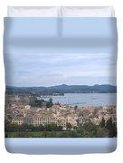 Corfu.new Port Duvet Cover