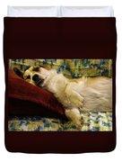 Corgi Asleep On The Pillow Duvet Cover