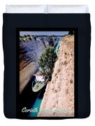 Corinth Canal Poster Duvet Cover