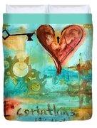 1 Corinthians 13 Duvet Cover