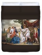 Coriolanus And His Mother Volumnia Duvet Cover