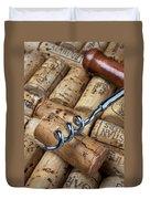Corkscrew On Corks Duvet Cover by Garry Gay