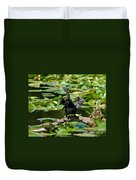 Cormorant And Turtle Duvet Cover