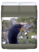 Cormorant Close-up Duvet Cover