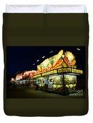 Corn Dog Kiosk Duvet Cover