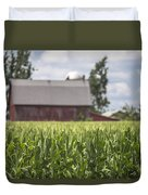 Corn Field And Barn Duvet Cover