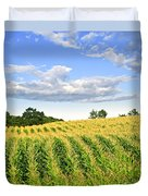 Corn Field Duvet Cover by Elena Elisseeva