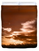 Corn Field Silhouettes Textured Duvet Cover