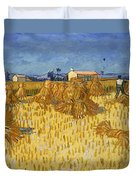 Corn Harvest In Provence Duvet Cover