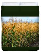 Corn Harvest Duvet Cover by Terri Gostola
