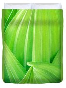 Corn Lily Leaf Detail Yosemite Np California Duvet Cover