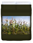Corn Production Duvet Cover