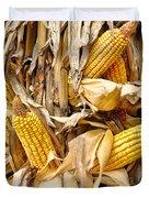 Corn Shock - Sign Of Autumn Duvet Cover