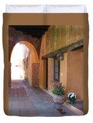 Corner Arch, Mission San Juan Capistrano, California Duvet Cover